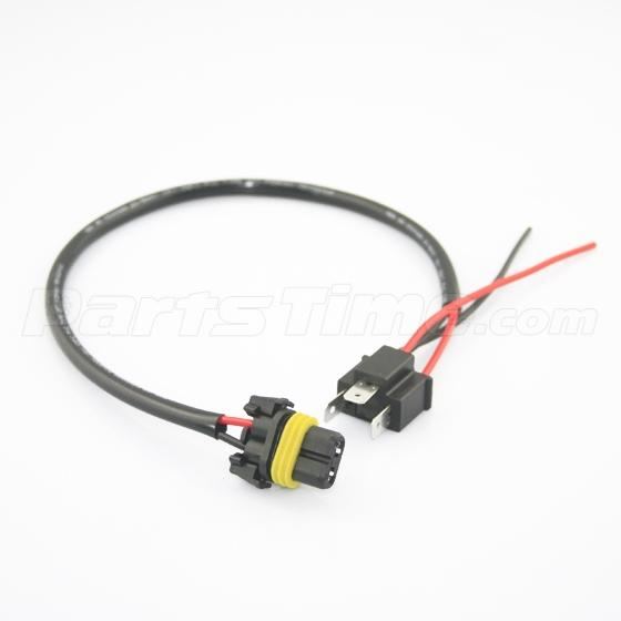 2pc h4 9003 to 9006 hb4 headlight wire harness socket for hid ballast conversion