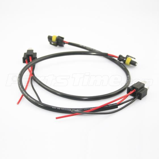 2pcs h4 9003 hb2 to 9006 hb4 wiring harness plug for hid