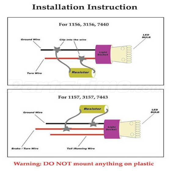 2 Load Resistors Warning Canceller Fix 3157 1157 1156 7443