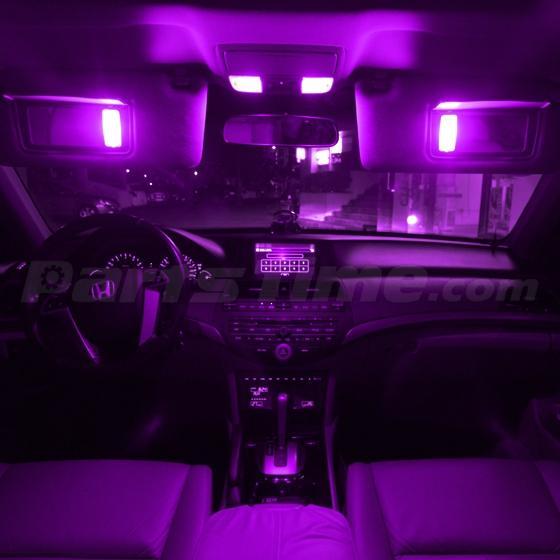2 36smd led 3528 smd car interior light panel bulb t10 dome ba9s purple ebay. Black Bedroom Furniture Sets. Home Design Ideas