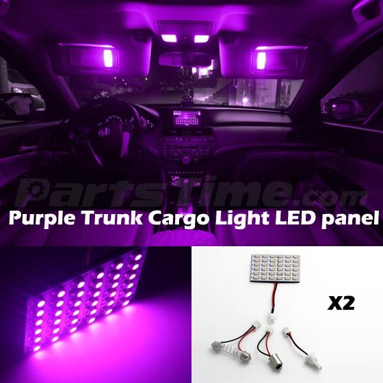2 36smd led 3528 smd car interior light panel bulb t10 dome ba9s purple ebay. Black Bedroom Furniture Sets. Home Design Ideas