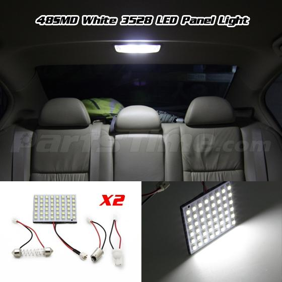 2 48smd led 3528 smd car interior light panel bulb t10 dome ba9s white ebay. Black Bedroom Furniture Sets. Home Design Ideas