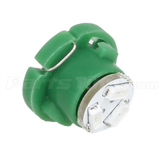 6 X T5 Neo Wedge Led Green 12mm 12v 3 Smd Light Bulbs For