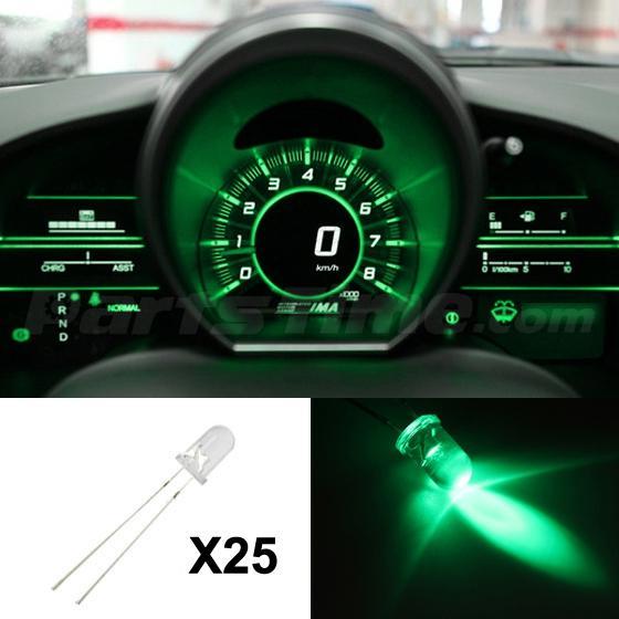 25x Green Led Light Kit Gauge Cluster Speedometer