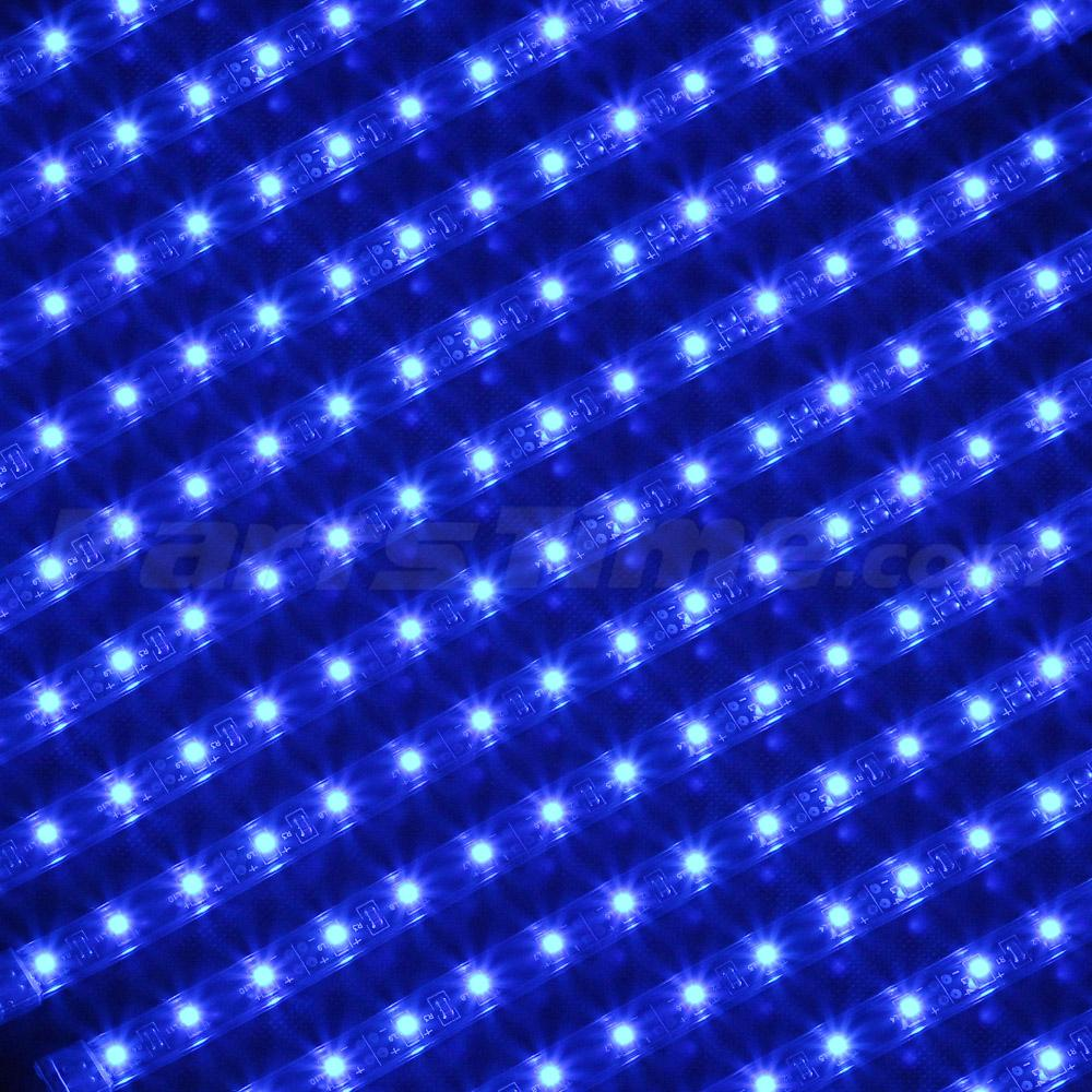 18pcs Blue 3 Mode 324 3528 Led Underglow Neon Light Strip Kit Under Car Body Ebay