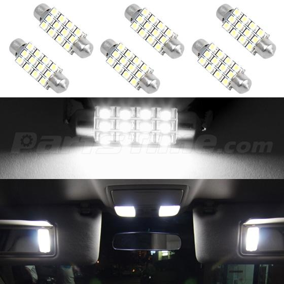 6x xenon white dome map lamp 42mm 12smd festoon led bulbs car interior light 578 ebay. Black Bedroom Furniture Sets. Home Design Ideas