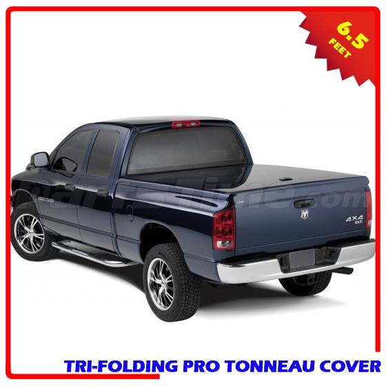 Dodge Bed Covers: For 2002-2014 Dodge Ram 1500 6.6ft Bed Soft Tri-Fold