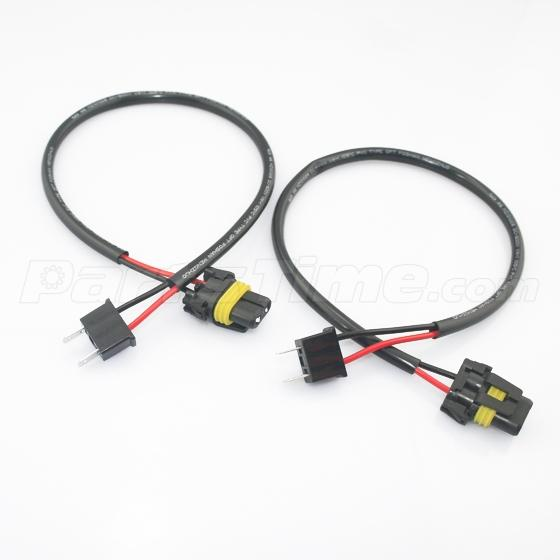 pairs of h7 hid conversion kit wire harness cable for