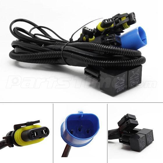 Hb hid xenon headlight conversion connector relay