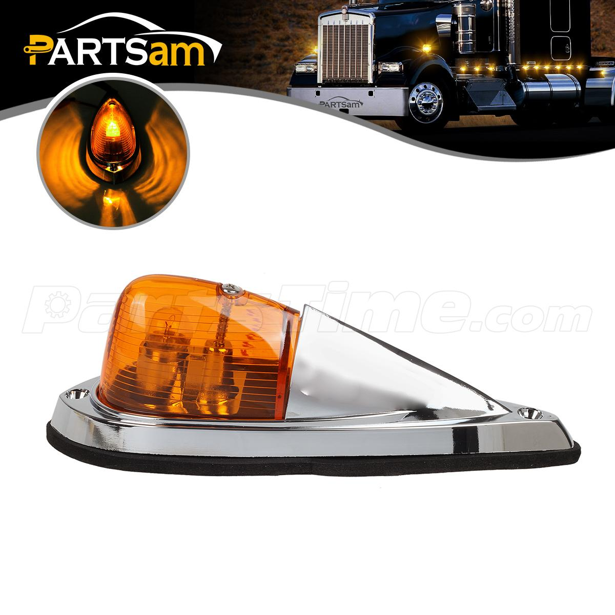 Semi Trailer Lights Led : Truck semi trailer amber cab marker roof top clearance