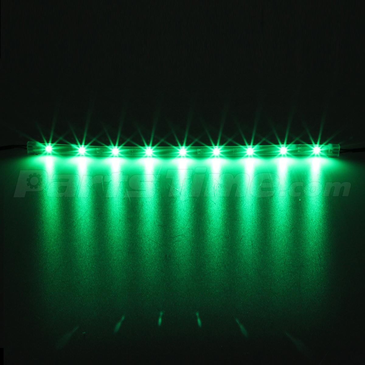 14pc Green Car Truck Underglow Under Body Neon Accent Glow Led Lights 12 Strip Ebay