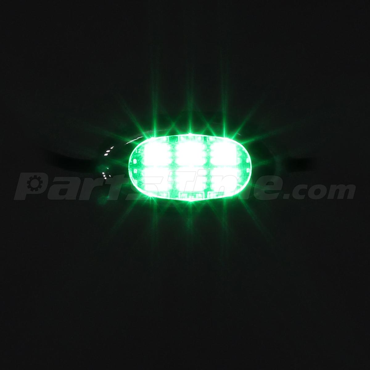 Green 10pod Motorcycle 60led Underglow Neon Accent Light Kit Push Button Switch Ebay